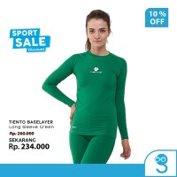 Tiento Baselayer Rashguard Manset Olahraga Wanita Long Sleeve Green