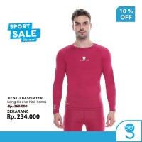 Tiento Baselayer Rashguard Manset Olahraga Pria Long Sleeve Pink Men