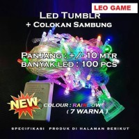Lampu natal hias LED TUMBLR 7 warna rainbow