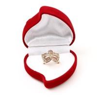 kotak cincin beludru kalung gelang love hati / box aksesoris murah