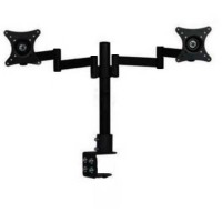 Table Mount Dual Arm TV Bracket 100 x 100 Pitch for 15-27 Inch - XD50