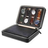 Kotak Jam Tangan Display Box Bahan Kulit 8 Grid - L-001