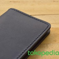 RAMADHAN PROMO - dompet kartu kulit asli model lipat 8 slot kartu -