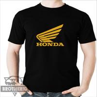 Kaos Motor Honda Logo Sayap Gold Emas