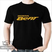 Kaos Beat Honda Motor Gold Emas