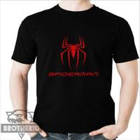 Kaos Spiderman Logo Ukuran Dewasa