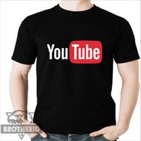Kaos Youtube Logo Tshirt Baju Youtuber Youtubers