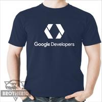 Kaos Google Developer Warna Biru Navy (Biru Dongker)