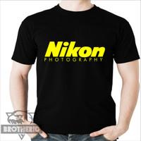 Kaos Nikon Photography Camera Logo