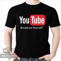 Kaos Logo Youtube Broadcast Yourself Baju Youtuber