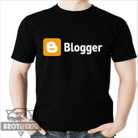 Kaos Blogger Logo Simple Warna Hitam
