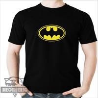 Kaos Logo Batman Pria Wanita Dewasa