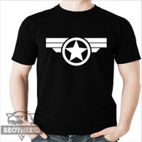 Kaos Captain America Amerika Logo Dewasa