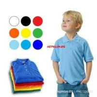 SERAGAM Kaos Polo Shirt Polos Lengan Pendek Anak Kecil FL-0366-NP