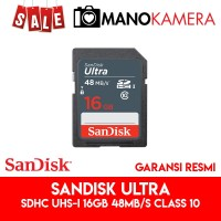 SD Card SanDisk Ultra SDHC UHS-I 16GB 48MBps Class 10