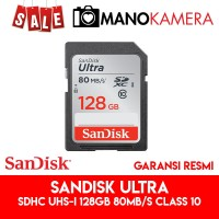 SD Card SanDisk Ultra SDXC UHS-I 128GB 80MBps Class 10