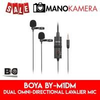 Boya BY-M1DM Dual Omni-directional Lavalier Mic BYM1DM For Interview