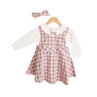 Mosfit Claire Pink Baju Dress Anak Perempuan