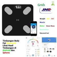 Timbangan Badan + Body Fat Bluetooth ( Pakai Apps android & Iphone )