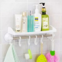Rak Gantung Kamar Mandi Tempel 2in1 - Rak Handuk Sabun Shampoo Dapur