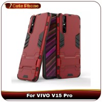 Casing VIVO V15 Pro V 15 Ironman Armor Hard Soft Case Kick Stand