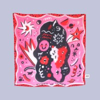 In My Head 60x60 Small Scarf