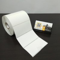 KERTAS STICKER LABEL PRINTER BARCODE 100 X 50 MM - 1 LINE - SEMICOATED
