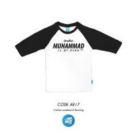 Kaos Anak Muslim Kaos Raglan Anak Original Ammar Kids AR 17 XL-XXL