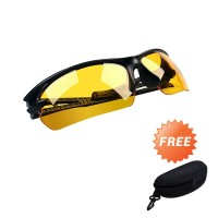 Kacamata Motor Berkendara Night Driving Glasses AA - Free Hardcase
