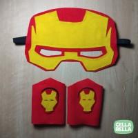 Topeng Gelang IRON MAN flanel. Kostum Superhero Marvel.