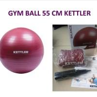 Gym Ball 55cm Merah Maron Exercise Fitness Balance - Kettler 134-100