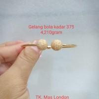 Gelang bulat bola emas 375