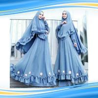 C5 Nina syari gamis polos gamis murah gamis baru grosiran hijab syari