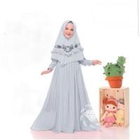Baju Gamis Anak Syari Moscrepe Alina Kids Dress Muslim Terbaru MURAH