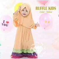Baju Gamis Anak Syari Jersey Ruffle Kids Muslim Terbaru MURAH