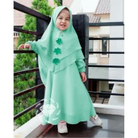 Baju Gamis Anak Syari Shifon Emila Kids Dress Muslim Terbaru MURAH