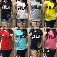 Best Kaos FILA / Atasan Baju Blouse Wanita Branded