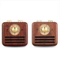 Loskii Wood Bluetooth Subwoofer Handmade Walnut Wood
