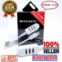 EXTENSION CORD 3 USB C120 / CHARGER USB HUB 3USB PORT