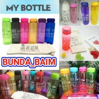 My bottle / BOTOL TRANSPARAN / TEMPAT MINUM / MEMO / BULAT / BENING