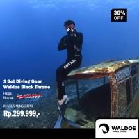 PROMO !! 1 Set Diving Gear Waldos Black Throne - Hitam, M