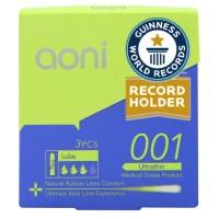 Discount Aoni Ultra Thin 001 Condom - 3 Pack Box (Kondom Latex