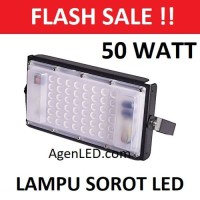 LED SOROT 50W Flood light Lampu FLOODLIGHT tembak 50 w watt outdoor MU