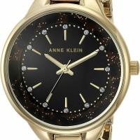 jam tangan wanita anna klein lux brown
