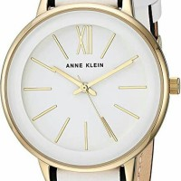 jam tangan wanita anna klein white gold