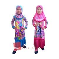 Baju Muslim Baju Gamis Baju Ngaji Dress Anak Frozen Lurus FRBD050418