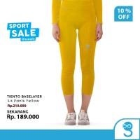 Tiento Celana Legging Wanita Leging 3/4 Pants Women Yellow Original