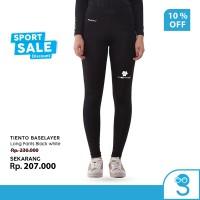Tiento Celana Legging Olahraga Wanita Long Pants Cewek Black White