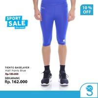 Tiento Celana Legging Leging Olahraga Pria Half Pants Blue Original