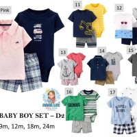 CARTER'S BABY BOY SET 3 IN 1 D2 / BABY JUMPER SET / BAJU BAYI SET